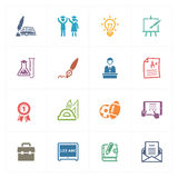 School & Education Icons Set 4 - Colored Series Stock Images
