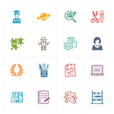 School & Education Icons Set 5 - Colored Series Royalty Free Stock Photo