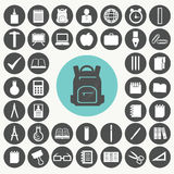 School and education icons set. Stock Image