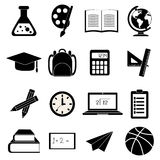 School education icons set Royalty Free Stock Photo