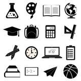 School education icons set Royalty Free Stock Photo