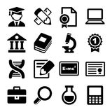 School and education icons set Royalty Free Stock Photography