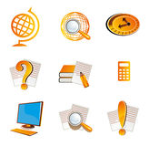 School and Education Icons Symbol Stock Image