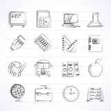 School and education icons. Vector icon set Stock Illustration