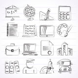 School and Education Icons. Vector icon set Royalty Free Illustration