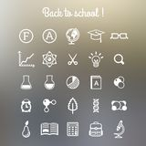 School and Education Icons. Vector illustration. Stock Images