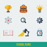 School and Education Icons. Vector illustration. Royalty Free Stock Images