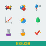 School and Education Icons. Stock Photos