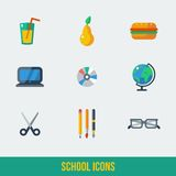 School and Education Icons.Vector illustration. Stock Image