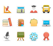 School and education icons Royalty Free Stock Photography