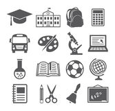 School and Education Icons Stock Images