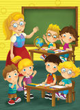 The school - education - illustration for the children Royalty Free Stock Photo