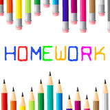 School Education Indicates Learning Homework And Study Stock Photography