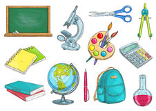 School and education isolated objects Royalty Free Stock Photo
