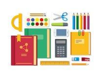 School Education Items on Table Royalty Free Stock Photos