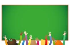 School education kids raising hands Royalty Free Stock Image