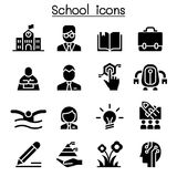 School, Education & Learning icon set. School, Education Stock Photography