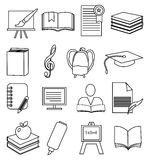 School Education line icons set Stock Photo