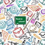 School and education seamless pattern Stock Images