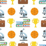 School and Education Seamless Pattern Royalty Free Stock Image
