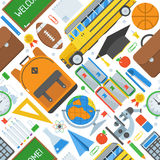 School and Education Seamless Pattern Stock Photography