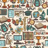 School education seamless pattern Stock Photos