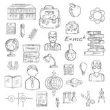 School and education sketch icons Stock Photography