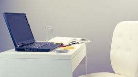 School and education - study desk with chair Royalty Free Stock Photos
