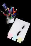 School education supplies items Royalty Free Stock Photos