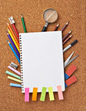 School education supplies items Stock Images
