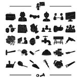 School, education, university and other web icon in black style.bolt, tools, business, icons in set collection. School, education, university and other  icon in Royalty Free Stock Image