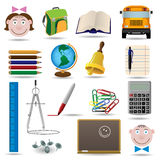 School and education vector icon set Stock Photos