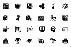 School and Education Vector Icons 3 Royalty Free Stock Images
