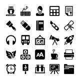 School and Education Vector Icons 7 Royalty Free Stock Photography