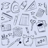 School Elements Background Royalty Free Stock Photos