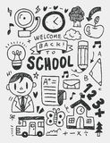 School elements doodles hand drawn line icon, eps10 Royalty Free Stock Images