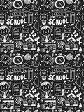 School elements doodles hand drawn line icon, eps10. Vector illustration file Royalty Free Stock Photography