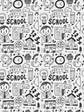School elements doodles hand drawn line icon, eps10 Stock Photography