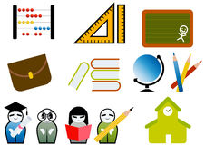 School Elements Set Royalty Free Stock Photo