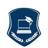 School emblem frame icon Royalty Free Stock Image
