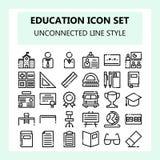 School en de reeks van het Onderwijspictogram, Nieuwe stijl in NBA of Afgekoppelde Overzichtsstijl, vector illustratie