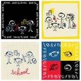 School en familie Vector Illustratie
