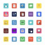 School en Onderwijs Gekleurde Vectorpictogrammen 5 stock illustratie