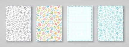 School en onderwijskaart met verschillende die kleurenachtergrond wordt geplaatst Royalty-vrije Stock Foto's