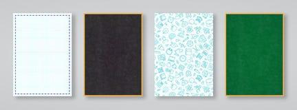 School en onderwijskaart met verschillende kleur en stijl diebac wordt geplaatst Stock Afbeeldingen