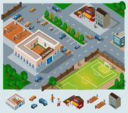 School environment vector illustration