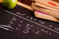School equation stock images