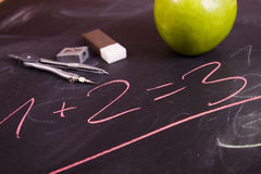 School equation Royalty Free Stock Photo