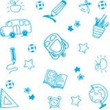 School equipment doodle art Stock Photography