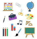 School equipment isolated vector Royalty Free Stock Images